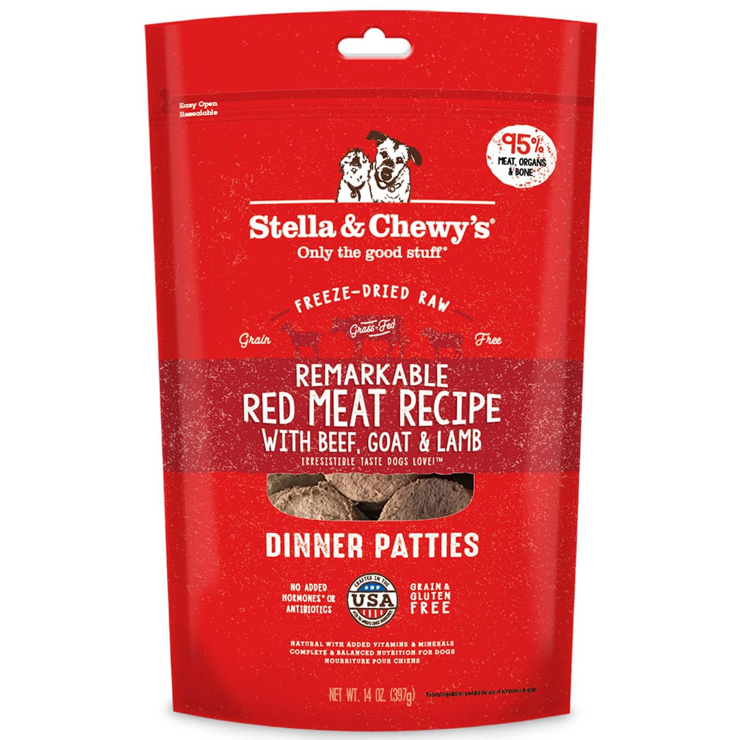 Remarkable Red Meat Freeze-Dried Raw Dinner Patties