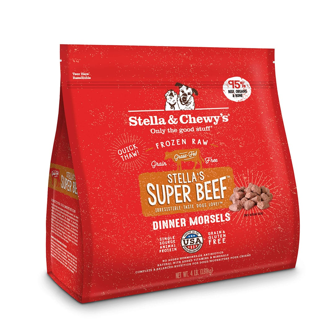 Stella's Super Beef Frozen Raw Dinner Morsels