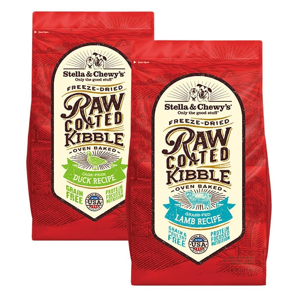 Raw Coated Kibble Product Packaging