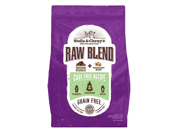 Raw Blend Kibble for cats packages