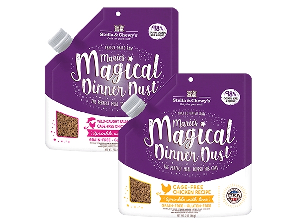 Magic Dust cat product packages