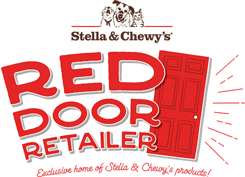 Red Door retailer Logo - Exclusive Home of Stella & Chewy's products!