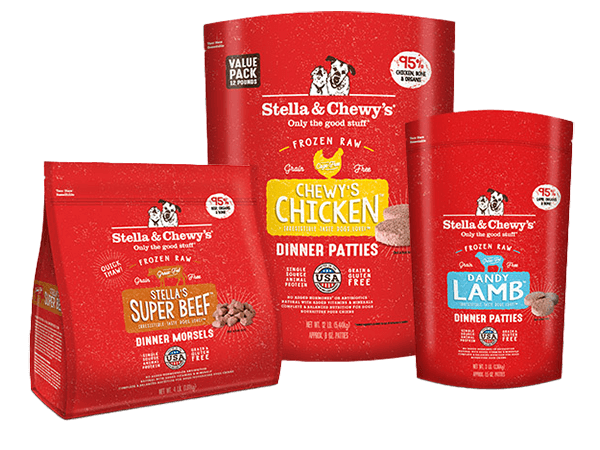 Frozen Raw Patties & Morsels for dogs packages