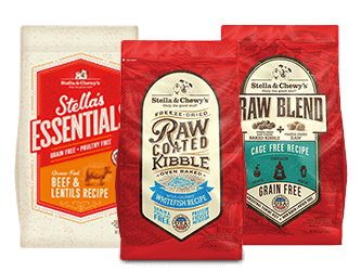Grain-Free Kibble for dogs packages